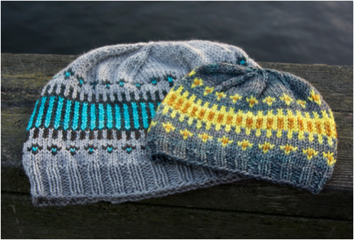 knitted multicolored hat