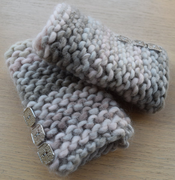 Hand Knit Foggy Morning Kit. Jane's Knitting Kits