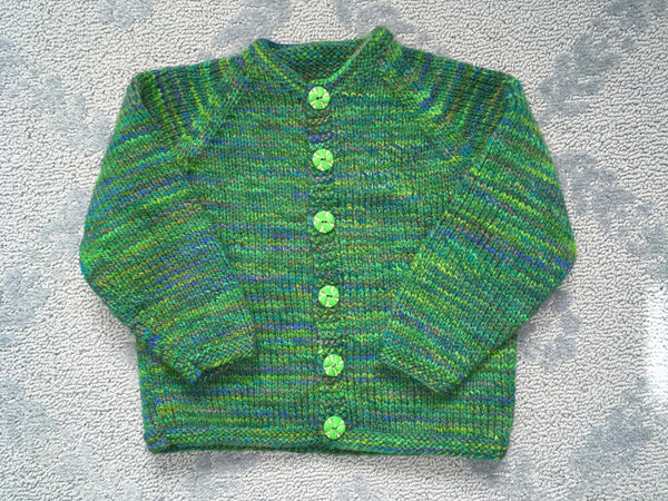 Baby Raglan Sweater Hand Knitting Kit