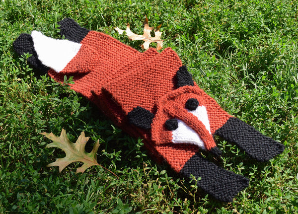 Fox Scarf - Hand Knitting Kit