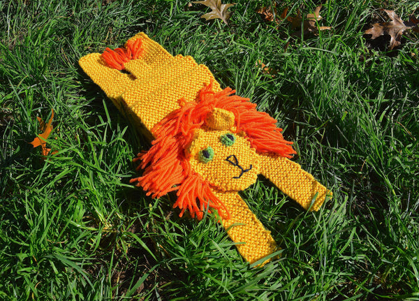 Lion Scarf - Hand Knitting Kit