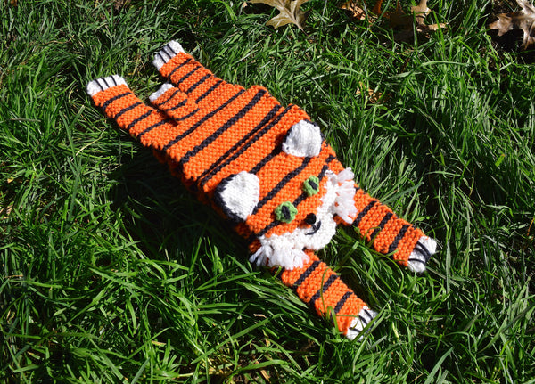 Tiger Scarf - Hand Knitting Kit