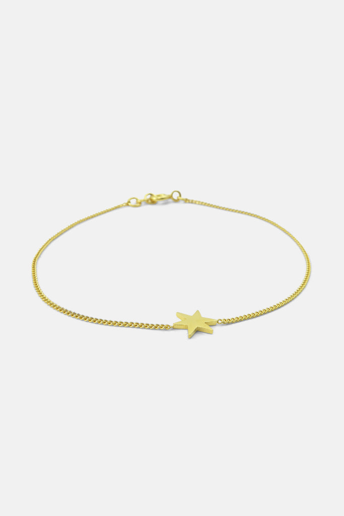 Bracelet with star, vermeil