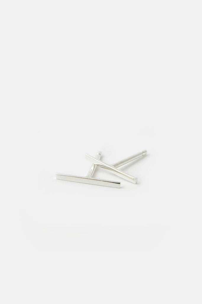 Stripe earrings, silver