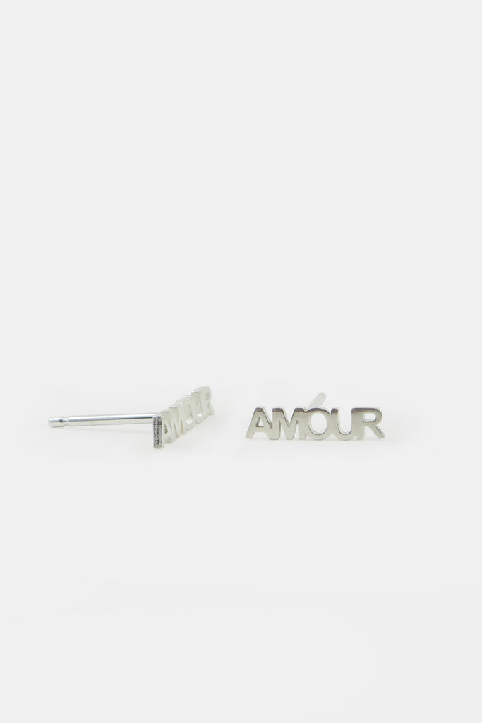 AMOUR earrings, silver