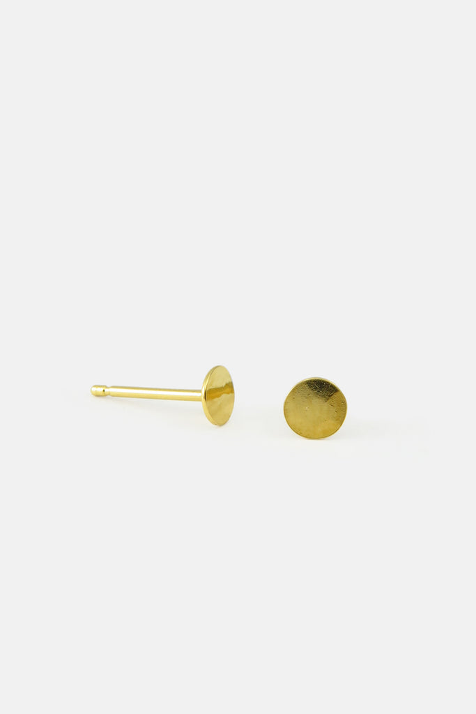 Hammered disc earrings, vermeil