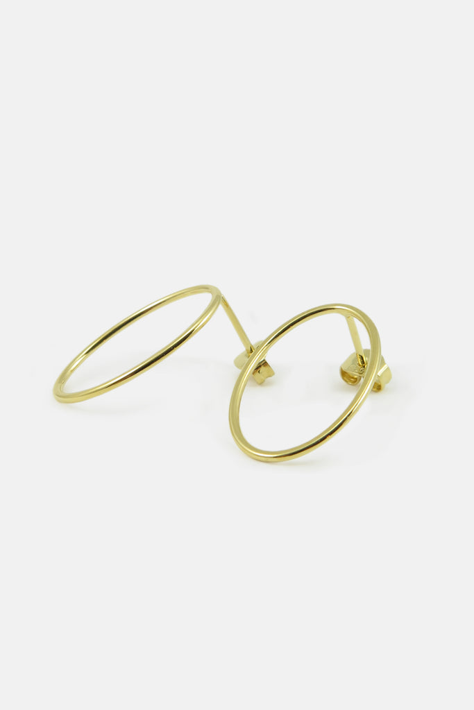 oval earrings, vermeil