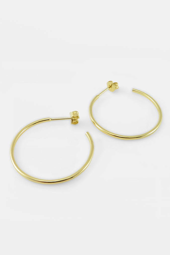 Medium Hoops, vermeil