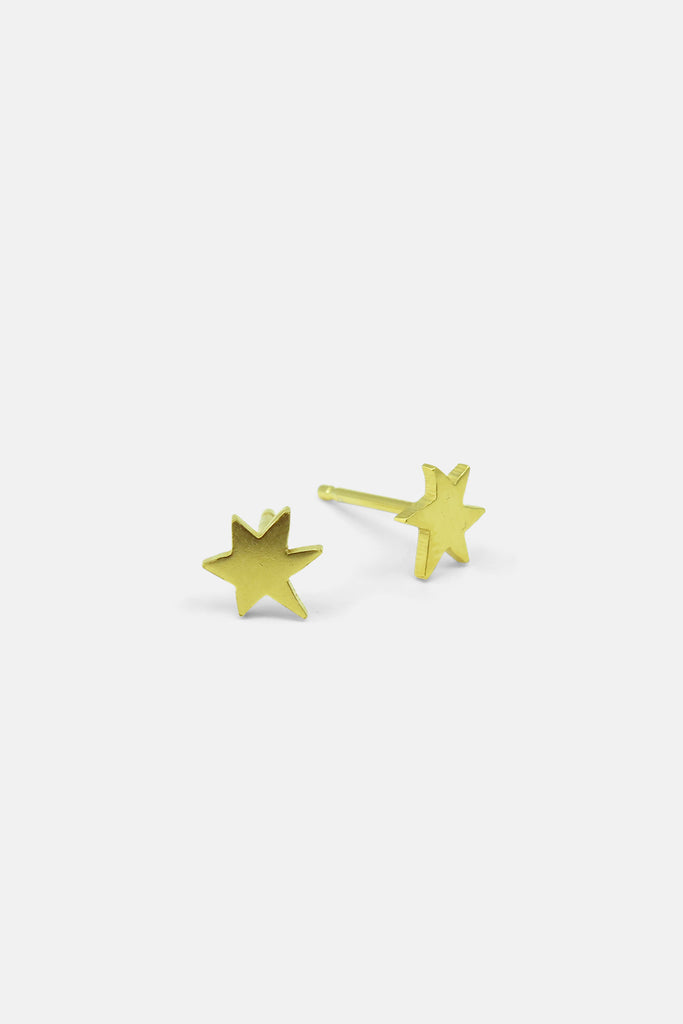 Star earrings, vermeil