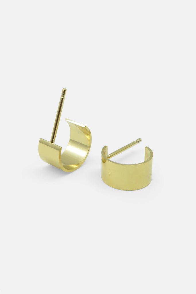 Curved earrings, vermeil