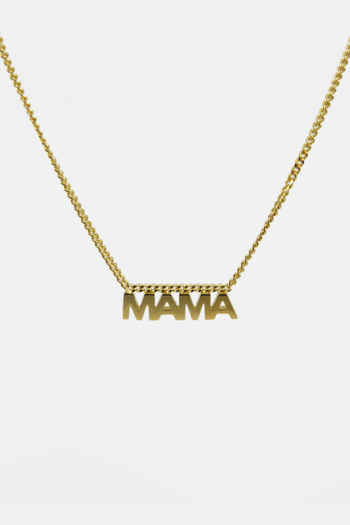 Mama necklace, vermeil