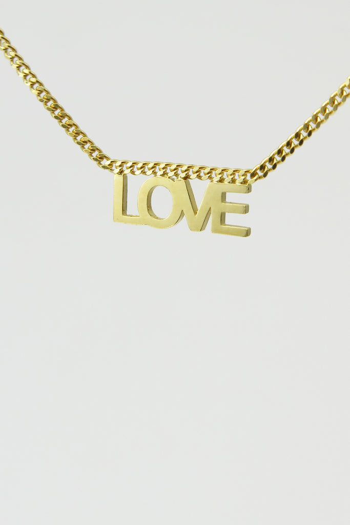 Love necklace, vermeil