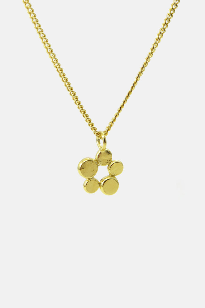 charm with dots, vermeil