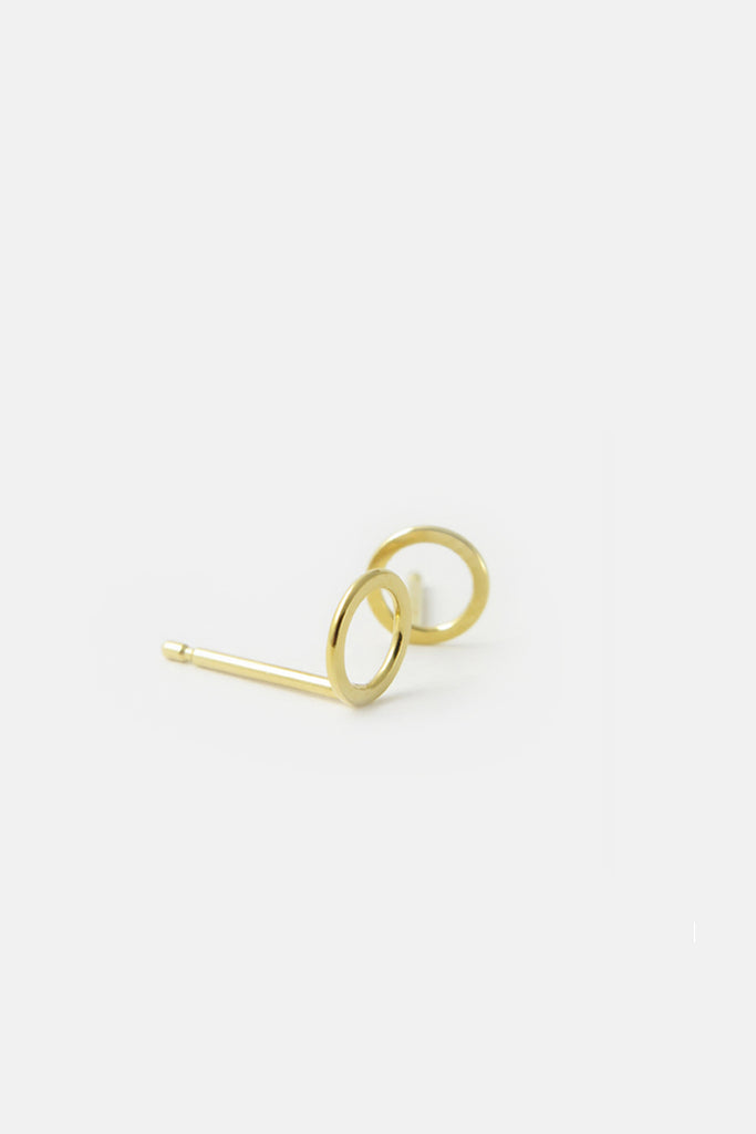 Small Circle Earrings, vermeil