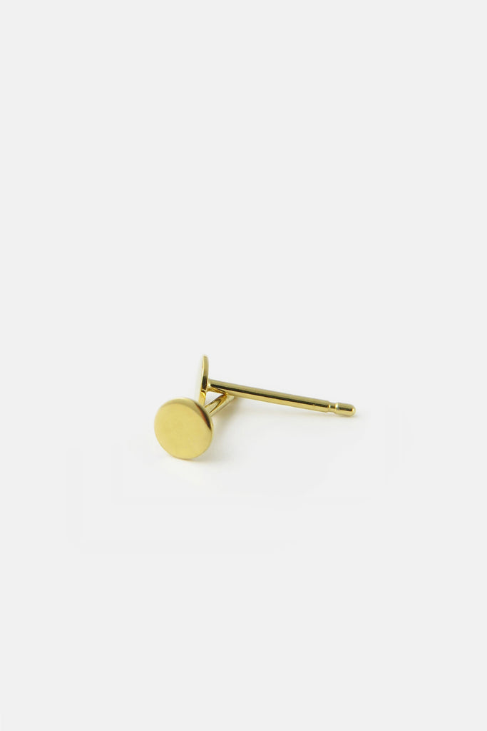 Disc earrings, vermeil