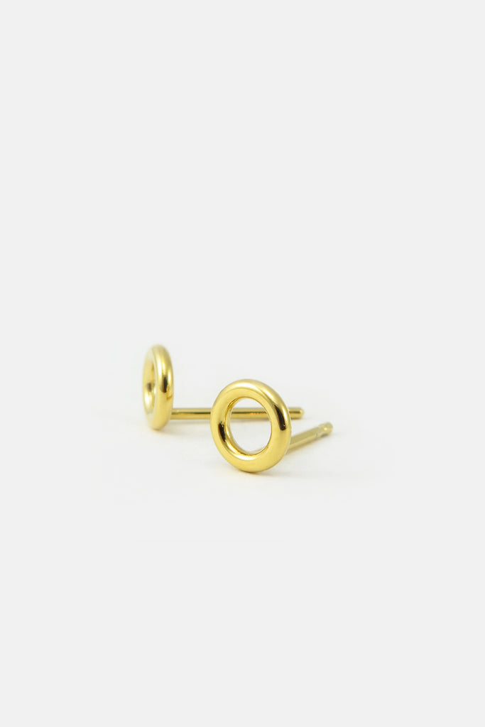 Small donut earrings, vermeil
