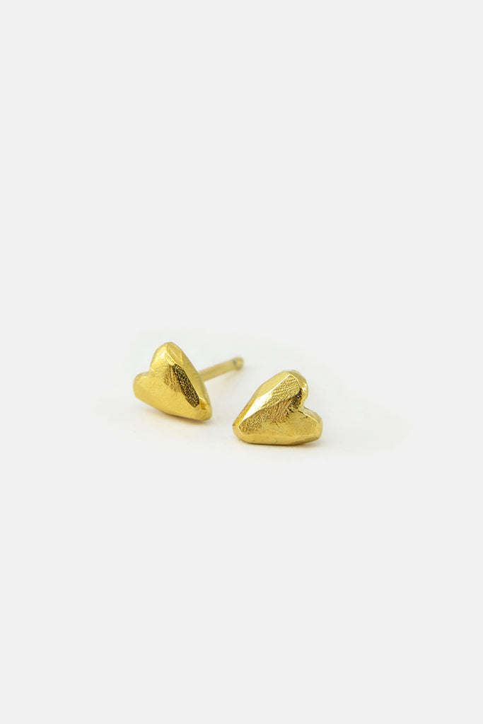 Heart earrings, vermeil