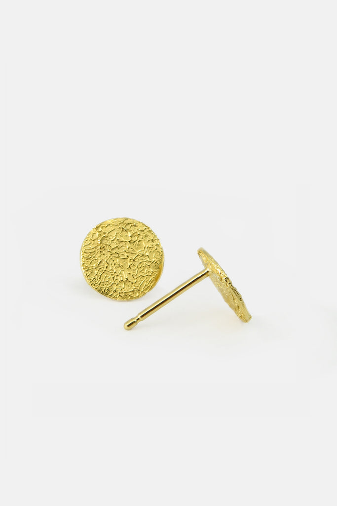Medium Foil disc earrings, vermeil