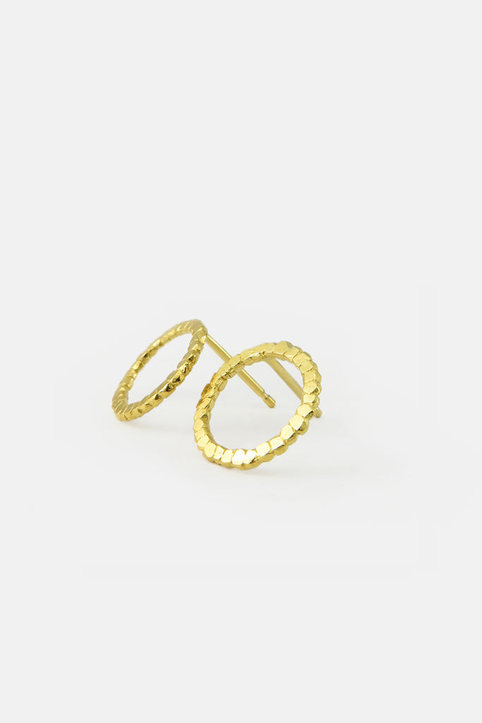 Nugget earrings, vermeil