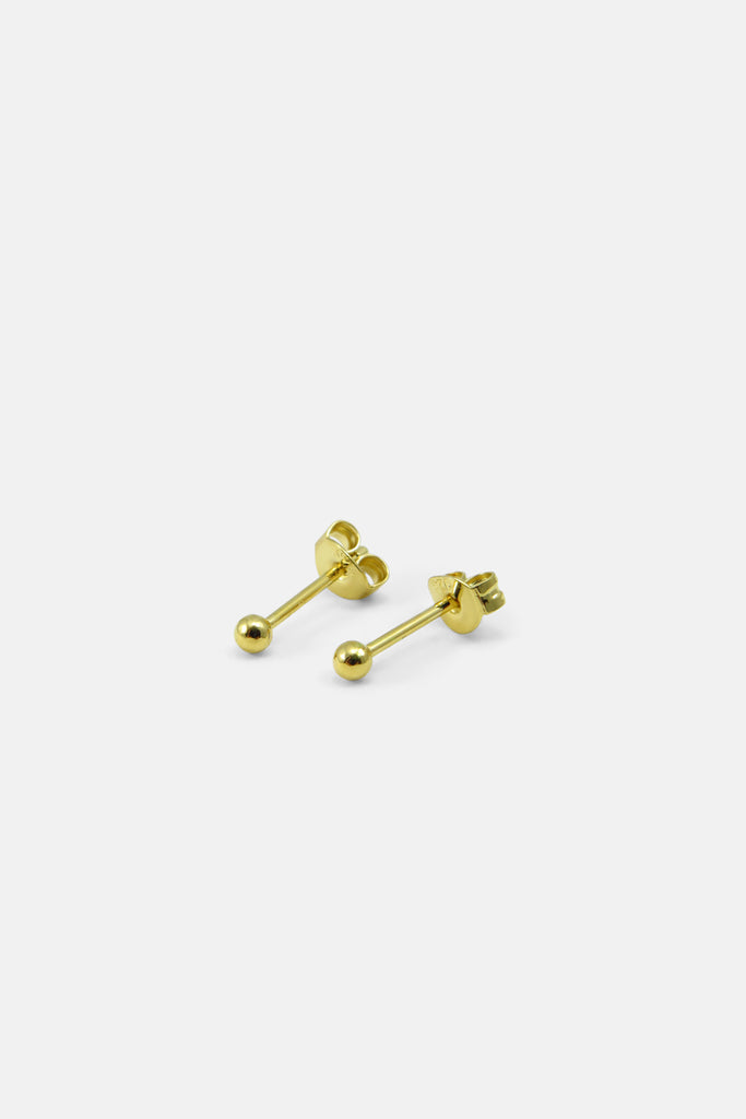 Tiny Ball earrings, vermeil