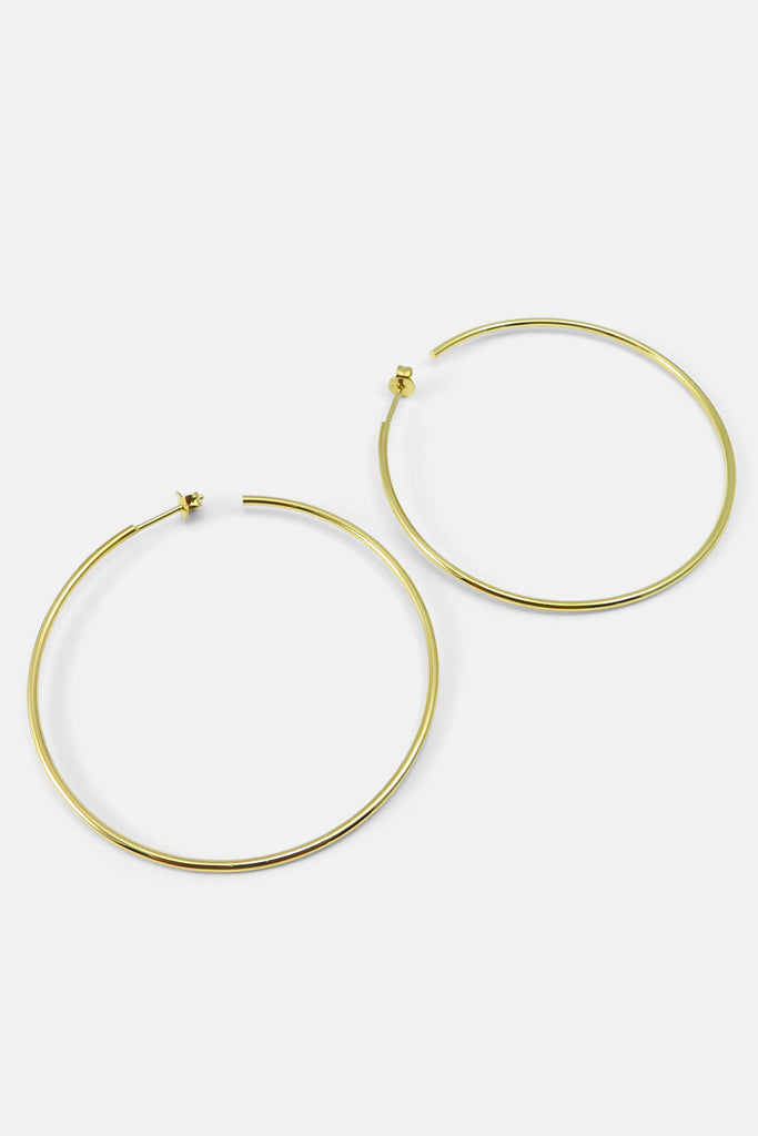 Large Hoops, vermeil
