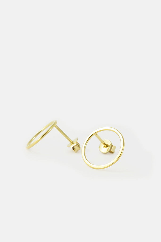 Large Circle earrings, vermeil