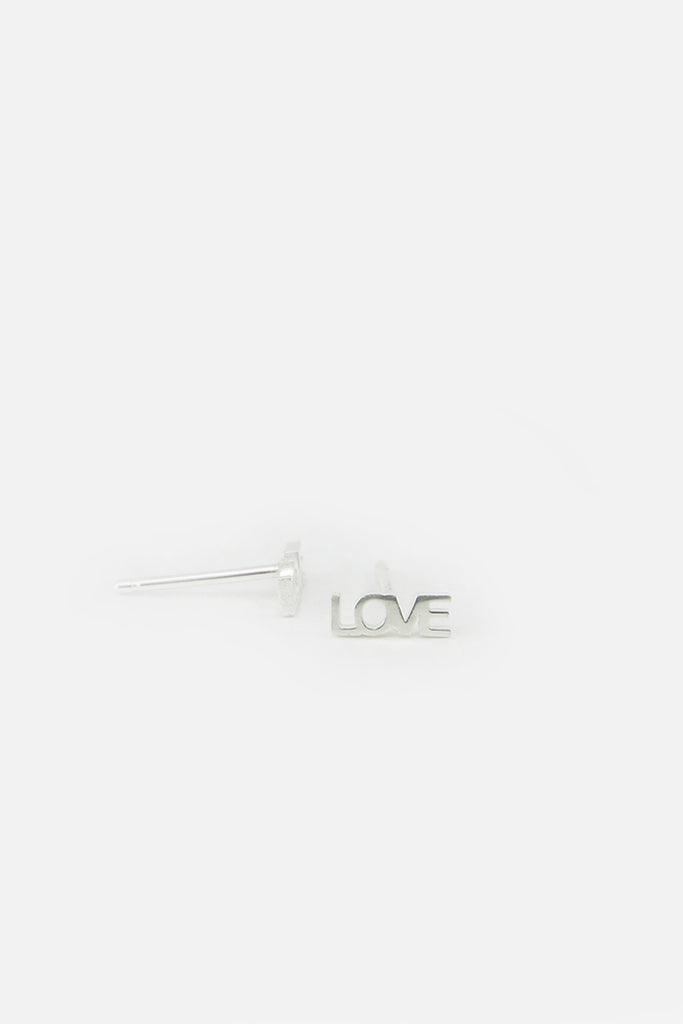 Love earrings, silver