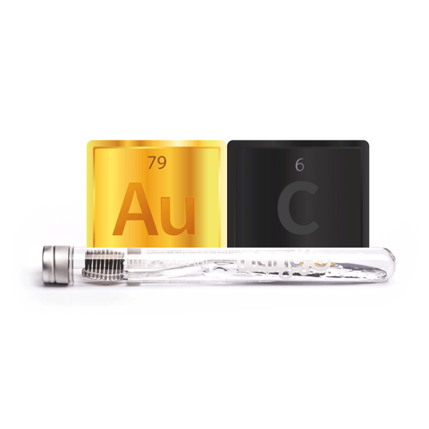 Nano-b Charcoal & Gold Toothbrush - Nano-b