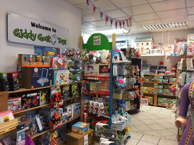 Giddy Goat Toys, traditional independent toy shop in Didsbury, Manchester.  Toys, books and games for children of all ages. Babies, toddlers, pre-school children, older children. Lego, Playmobil, LOL Surprise, Sylvianian Families, Orchard Toys & Hape