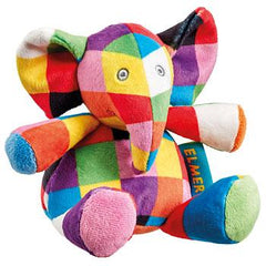 Elmer Elephant baby rattle soft toy
