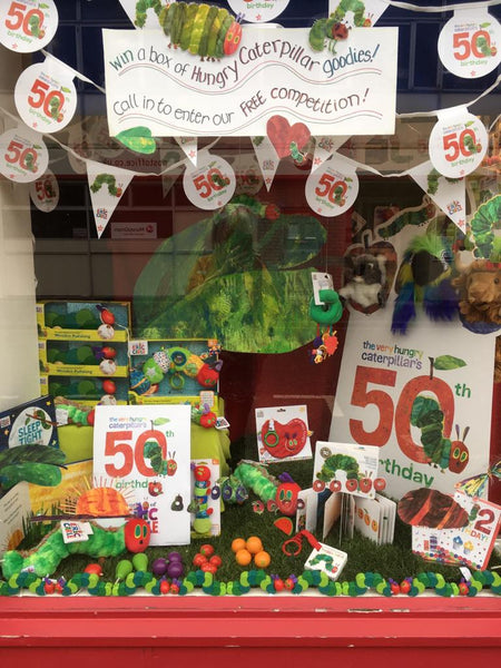 Very Hungry Caterpillar window display