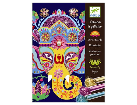 Djeco Glitter Boards: Glitter Animals