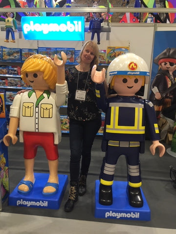 Networking with the Playmobil boys at Spring Fair
