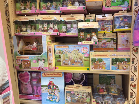 Sylvanian Families sets at Giddy Goat Toys, June 2017