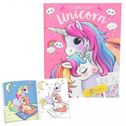 Top Model Create your Unicorn Colouring and Sticker book