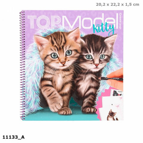 TOPModel Kitty Colouring Book *new