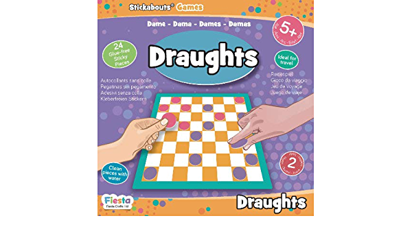 Draughts - Stickabouts® Game - travel game