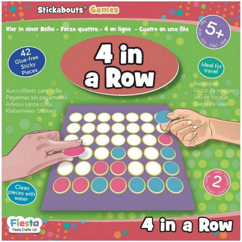 4 in a Row - Stickabouts® Game - travel game