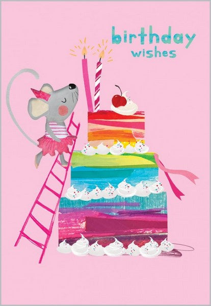 Birthday Card - Rainbow Birthday Cake