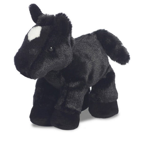 Black Horse Mini Flopsie soft toy - 8""