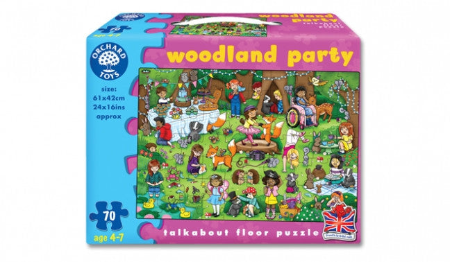Woodland Party - 70 piece children's jigsaw by Orchard Toys