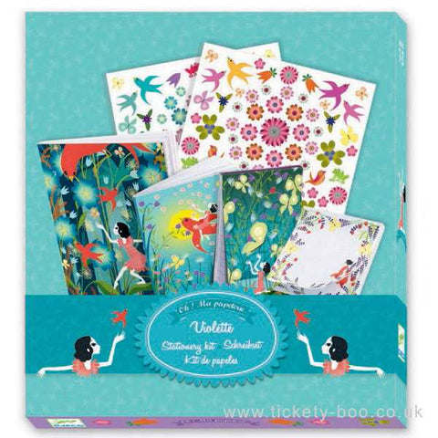 Djeco Children's Stationery Set - Violette. DJ09831