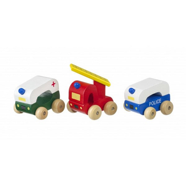 First Emergency Vehicles - wooden vehicles