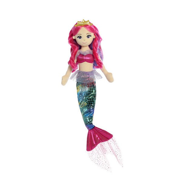 Sea Sparkles Rainbow Fuchsia Mermaid Doll 18""