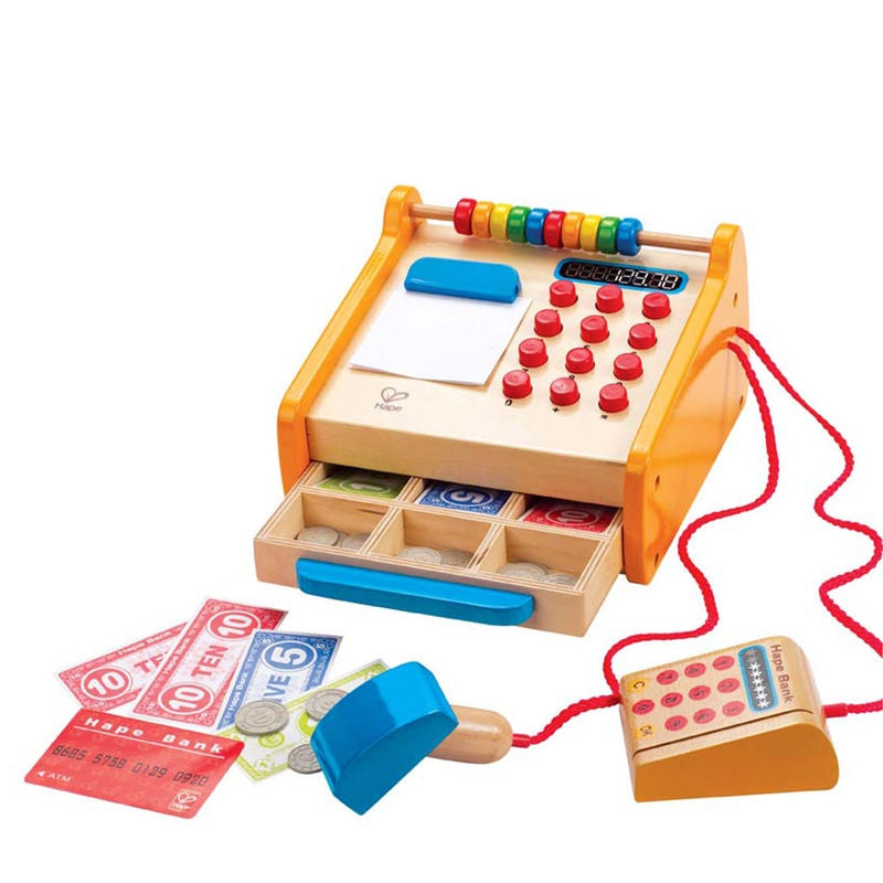 Toy wooden Checkout Register
