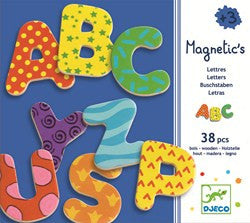 Djeco 38 Fancy Letters: Magnetic Wooden Upper Case Letters