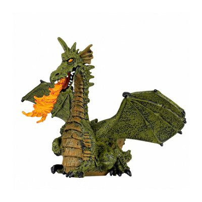 Papo Mythical Creatures - Green Fire Breathing Dragon