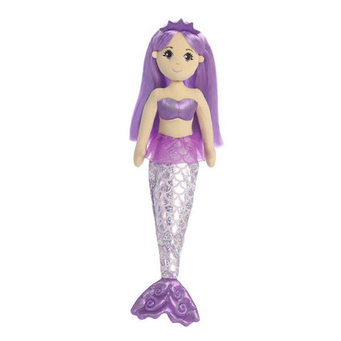 Sea Shimmers - Amethyst Mermaid Doll 18""