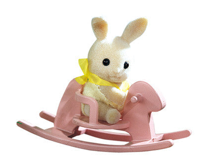 Sylvanian Families - Baby Carry Case - Rabbit on Rocking Horse