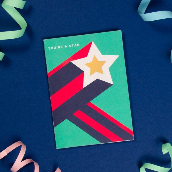 Scandi Disco Greetings Card - YOU'RE A STAR